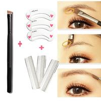 (Min. Order 10$) Angled Eyeliner Brush Eyebrow Powder Brushes Make Up Eye Blender Blending + Eyebrow Stencil + Eyebrow Knife