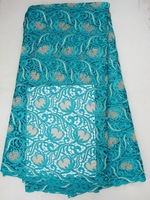 multicolor Cord lace,guipure lace fabric, high quality for 2015, J379-1,teal color