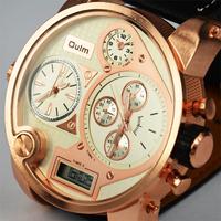 Vogue Digital Analog Luxury Famous brand Relogio Masculino Sport Men Gold full steel Military Casual Quartz Wrist Watch 2015 New