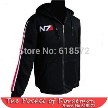 Rpg игра эффект масса 3 N7 хлопок косплей толстовка верхний пальто косплей-костюмы куртка мужчины Sportsuit короткая толстовка толстовка