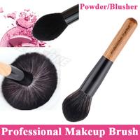 (Min. Order 10$) Professional Super Soft Big Powder Brush Face Blusher Powder Makeup Brush Single Angled Flame Shape