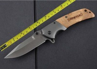 New Browning 354 pocket folding survival knives camping hunting knife rescue tool 5Cr15Mov titanium blade shadow wood handle