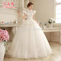 2015 sweet petals wedding white three-dimensional cut aesthetic  bandage slim stereo Wedding Dresses