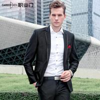 Men's clothing 2014 autumn and winter blazer male male slim blazer outerwear