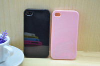 Color Soft Candy Jelly TPU Case Skin Back cover For Apple IPHONE 4 4S  High Quality