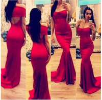 Manufacturers wholesale and retail Women's clothing strapless Evening dress Long  dress S M L