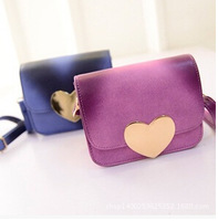2015 new heart-shaped lock gradient essential travel bag Korean female fashion casual shoulder bag