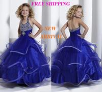 78 2015 halter tiered beads ball gown flower girl dresses for weddings girls pageant dresses prom dress custom made 2015