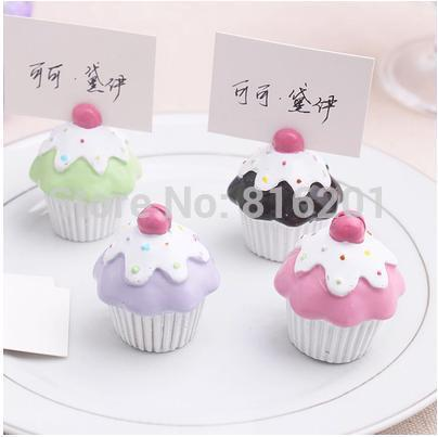 Unique mini Table Decoration Cake Place Card Holder, Wedding/Birthday Party Favor&Gift,free shipping(China (Mainland))