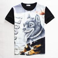 [Magic] COOL wholesale 2015 summer Men/Women t shirt Black lovely dog print short-sleeve casual 3d t-shirt top tees1861 S-XL