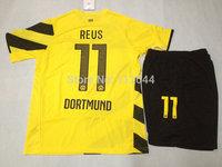 High  Quality  Borussia  Dortmund  Home  2014-  2015    REUS soccer  jerseys  uniforms  kits   Free Shipping