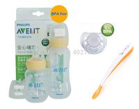 Lot 2 AVENT Standard Feeding Bottles+Spoon+Avent Pacifier/Soother Avent bottles for NewBorn Baby Starter Gift Set/Kit/Pack 0M+