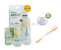 Lot 2 AVENT Standard Feeding Bottles+Spoon+2x6M+ Teats Pacifier/Soother Avent bottles for NewBorn Baby Starter Gift Set/Kit/Pack