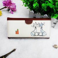 New winter han edition cat lady wallet long zero purse fashion street hand bag taobao blasting in supply