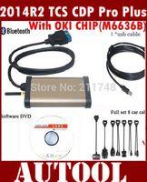 Latest version 2014 R2 CDP Pro +Bluetooth CDP Pro Plus+OKI Chip For Aut0com OBD2 Cars/Trucks+ 8 PCS Car Cable diagnostic tool