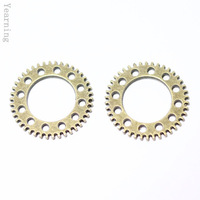 Yearning Accessories Zinc Alloy Antique Bronze Round Gear charms Pendants 29MM 50pcs/lot