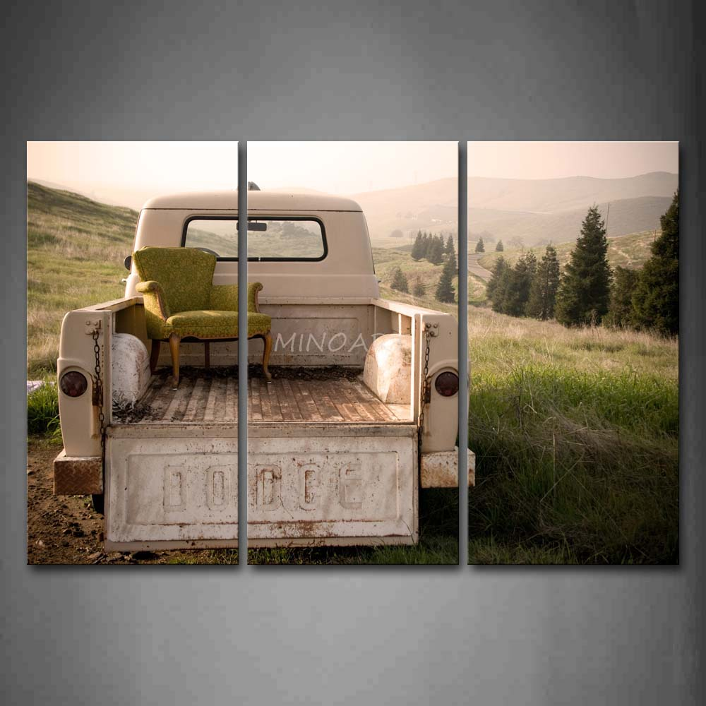 3 Piece Wall Art Painting Sofa In White Truck Mountain Print On Canvas The Picture Car 4 Pictures Oil Prints For Home Decor(China (Mainland))