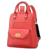 2015 New design fashion Women's leather backpacks shoulder bag leisure bag schoolbag female College Wind backpack Travel bags