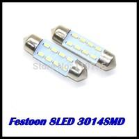 wholesale 500pcs/lot 31MM 36MM 39MM 41MM 8SMD 3014SMD C5W Interior Festoon car LEDs Bulb White auto led lamp