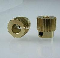 2 pieces Copper RepRap Makerbot 40 teeth Extrusion Head Gear 5*11*11mm 3d printer extruder gear
