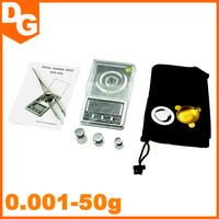 2015 Brand New 0.001- 50g Mini LCD Digital Pocket Jewelry Diamond Weighing Scale Precision Measure Digital Scale