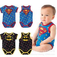 Super man boy romper 2014 summer super man style short-sleeve vest romper baby clothes romper bodysuit