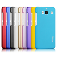colorful protective PC back cover for xiaomi redmi 2 case yellow red white black purple ultra thin mobile phone case & dustplug