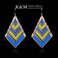 New Fashion Wholesale Drop Earrings 4 Colors Gold Plated Enamel Fashionable Women Jewelry EA-03115 MOQ is $10
