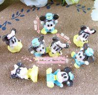 Free shipping 50 PC resin stereo kawaii mickey Minnie, micro landscape decoration decoration, pendant