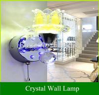 5W Creative LED Crystal Wall Lamp Bedroom Modern Minimalist Living Room Bedside Lamp Staircase Corridor Study