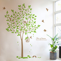 Nursery decal Vinyl Wall Decal Nature Design Tree Wall Decals chrildren's wall decals Wallstickers , wall decals  8338
