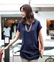 New Summer Women T-shirt Large Size Loose Chiffon T shirts Women Summer Casual Short-sleeved t shirt Free Shipping