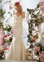 New Arrival Mermaid Ivory Satin Floor Length Zipper Up Sweetheart  Floor Length Wedding Dresses Bridal Gown 2015