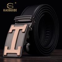 GK6231 new leather belt buckle belt male automatic glossy upscale men's genuine leather belt belt body