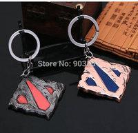 Anime  WOW DOTA 2 LOGO KEYCHAIN  Bag Pendant Key Ring Children Toys RED / BlueFree Shipping