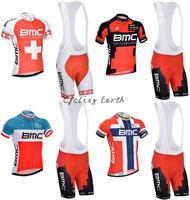 Free shipping! BMC 2014 #1-4 short sleeve cycling jersey shorts bib shorts set bike bicycle wear clothes jersey pants,gel pad