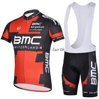 Free shipping! BMC 2014 short sleeve cycling jersey shorts bib shorts bike bicycle wear clothes jerseys pants kit,silicone pad