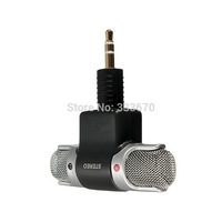 Free Shipping For ECM-DS70P 3.5mm Mini Flexible Microphone Mic For PC Laptop MSN Skype Black B424 VO3vE