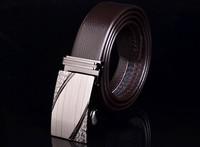 2015 Men's genuine leather belt buckle belt automatic alloy fashion casual belt 004