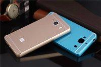 Slim Aluminum Metal Bumper+Back Cover Hard Case Acrylic Bumper Case Cell Phone Case For  Xiaomi Hongmi 2 Redmi 2