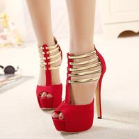 New Milan Fashion Week classic Decorative metal women Sandals elegant high-heeled women pumps beautiful Wedding shoes size35-40