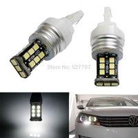 2 X CAN-bus Error Free 10W Xenon White LED Bulbs For B7 NMS Volkswagen Passat Halogen Headlamp Trim Daytime Running Lights