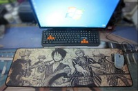 11kind size anime mouse pad alfombrilla raton figure size 800x300 pad to mouse mat One Piece Naruto print mousepad