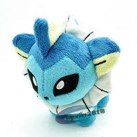 2015 New Plush Stuff Toy 15CM Cute  Anime Pokemon Vaporeon Plush Doll Stuffed Toys