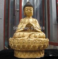 Free Shipping   Details about  Tibet Buddhism worship bronze Tathagata Buddha Lotus throne Buddha statue