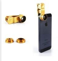 Universal mobile phone clip Wide Angle + Macro + triple fisheye lens