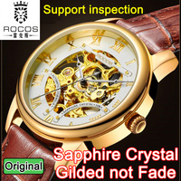 Original Brand Sapphire Luxury Fashion Casual Leather Men Automatic Mechanical Watch For Men Dress Wristwatch Support inspection