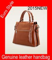 Hot selling free shipping Fashion Women oil wax cow leather bag portable shoulder bag Women retro handbag women messenger bag