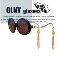 Metal Gold Chain Twisted Sunglasses Pendant Tassels Sun Glasses Vintage Fashion Oculos Feminino Women Brand Designer Retro Gafas