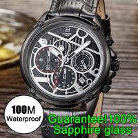 TOP Brand New Fashion Watch Luxury Trendy Leather Strap watches Men Quartz Watch High Quality Men Sports Watches wristwatches